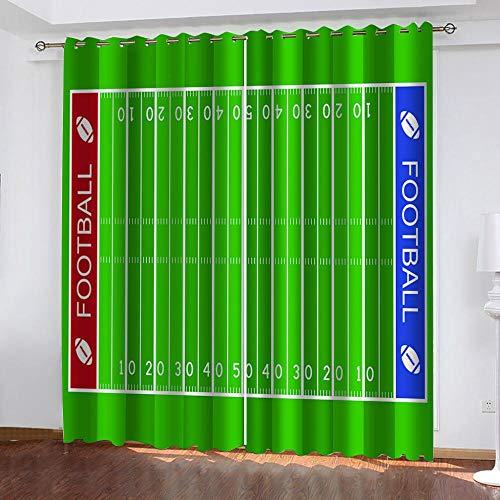 Bxnthd Modelo De Regla Verde 3D Ventana Impresa Blackout Cortina De La Cortina Decorativa Tapicería para La Sala De Estar del Dormitorio 170 (Ancho) X 200 (Alto) Cm