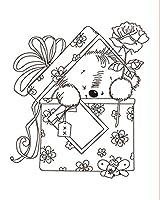 ギフトボックス内の10x8ベアDIYスクラップブッキングフォトアルバム用の透明なクリアシリコンスタンプシール装飾的なクリアスタンプ