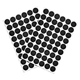 uxcell Screw Hole Covers Stickers Textured Plastic Self Adhesive Stickers for Wood Furniture Cabinet Shelve Plate 21mm Dia 108pcs in 2Sheet Black Walnut, PC-010