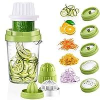 osaloe spirale per verdure, tagliapasta a spirale 8 in 1 spremiagrumi per carote, cetrioli, zucchine, formaggio, cioccolato, arancia, limone, bacche ecc. (verde)