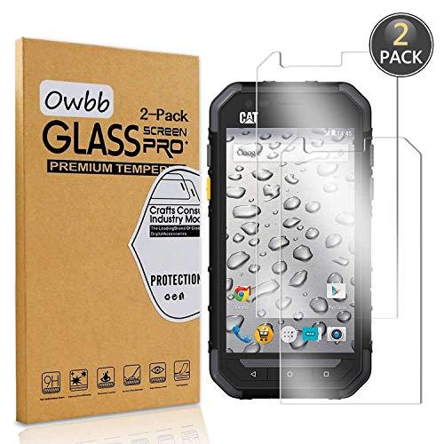 Owbb [2 Stück] Gehärtetes Glas Display schutzfolie Für CAT S30 Smartphone Schutz 99% High Transparent Explosionsgeschützter Film
