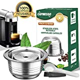 CAPMESSO Coffee Capsule, Stainless Steel Reusable Coffee Pod for Espresso Nespresso Refillable Vertuo Capsule Pod Vertuoline GCA1 and Delonghi ENV135 (8oz-Coffee Cup(Big)