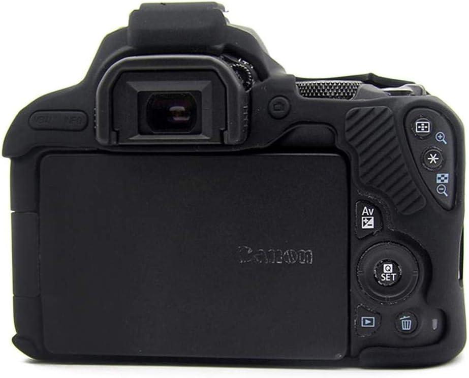 4000D T100 Noir Housse de bo/îtier pour Appareil Photo Reflex num/érique en Silicone Armor Skin pour Canon EOS R 80D 6D 800D 750D 4000D 5D Mark III IV 5D3 5D4 200D SL2 T100 T7i