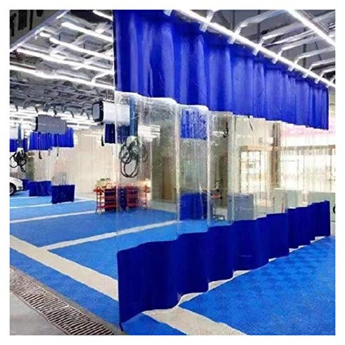 Pared Lateral Pabellón Tienda Pared Lateral Pérgola Kiosko Panel Lateral PVC Transparente, Interior Cortina de Partición con Ojales, Impermeable Impermeable Lona (Size : 4×7m(13×23ft))