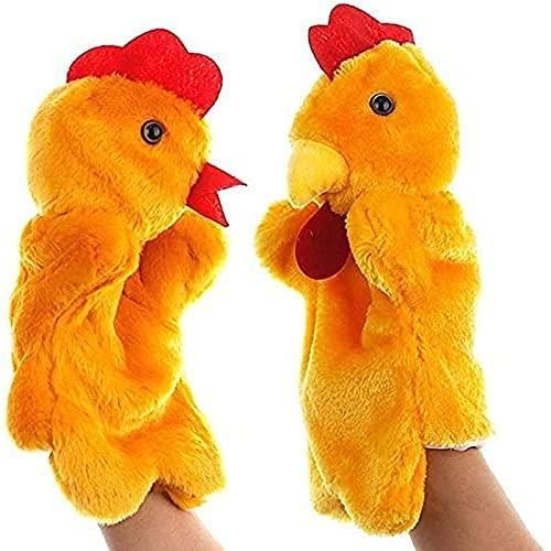 LUOYEPIAO Mano 2 Piezas/Set, Polla Femenina Animal muñeca de Peluche muñeca, Guantes. Regalo de Juguetes Inteligentes Infantiles, Juguetes para bebés Educación temprana Peluche.