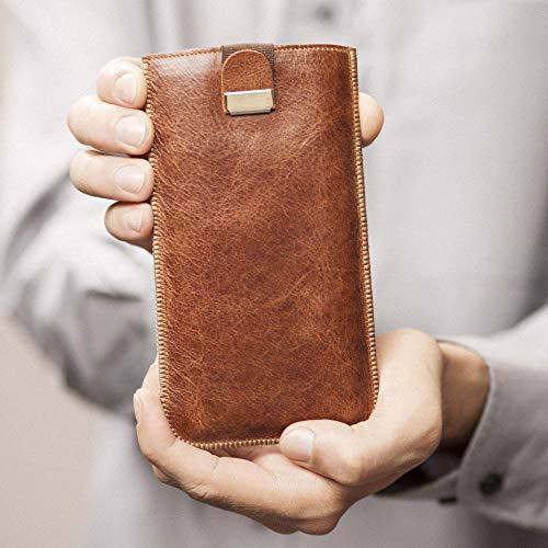 Marrone scuro custodia in pelle per Samsung Galaxy S10e caso
