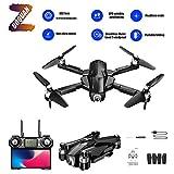 ZUOQUAN 20MP Drone Pliable avec Caméra Réglable Grand Angle 4K HD À 110 °, Reconnaissance De La Prise De Vue Gestuelle, Suivi Intelligent GPS, Utiliser Le Temps 30 Minutes, Distance WiFi 500M,Noir