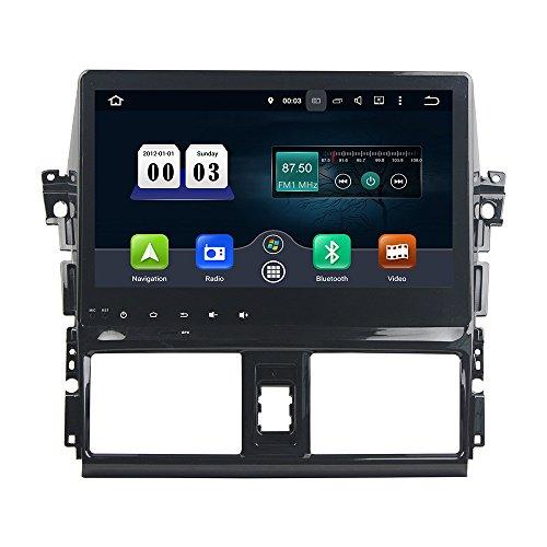 KUNFINE Android 10 Octa Core 4G Ram 32 Go de ROM Autoradio GPS La Navigation DVD Lecteur multimédia Commande au Volant Headunit Stéréo PourTOYOTA VIOS/Yaris 2013-2015
