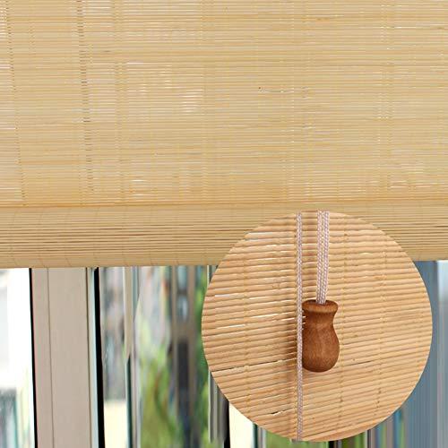 Bambusrollo Rollos Außenrollos für Fenstertür, 45/60/75/80/90/120/130/140 cm Breit, Extra Lange Lichtfilterung für Außenrollos (Size : 80×260cm)
