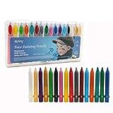 Cisixin Lápices de Pintura de Cera para Cara y Cuerpo 16 Colores Pintura?Pack de 16