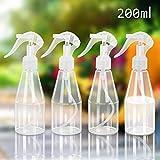 (4*200ML)CHIFOOM Botellas de Spray Vacías, Atomizador Spray, Spray de Botella Portátil para Plantas de Riego de Flores o Herramienta de Limpieza de Loción, para Vajilla de Agua para Jardín Doméstico