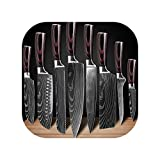 Kitchen Chef Knives Set 8 Inch Japanese High Carbon Stainless Steel,8 Pcs Value