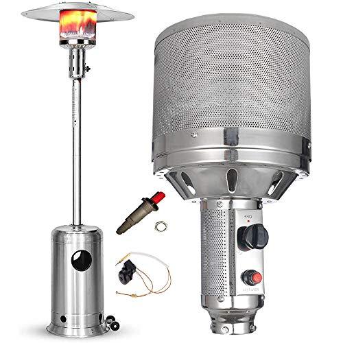 Piezas de repuesto del calentador de patio exterior, kit de equipo de estufa de calefacción de quemador de gas natural/gas licuado, diámetro del enchufe: 2.2 pulgadas / 3.0 pulgadas