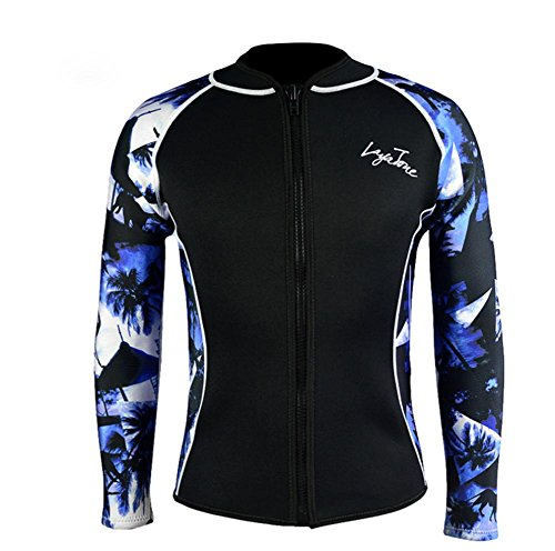 pengweiLayatone Wetsuits Jacket 2mm Neoprene Camiseta de Manga Larga, L