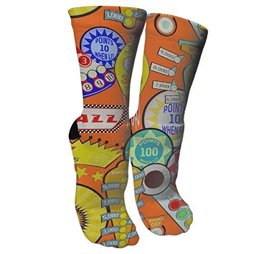 New Cartoon Pinball Orange Athletic Tube Stockings Women's Men's Classics Knee High Socks Sport Long Sock One Size