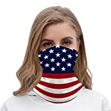 Stars and Stripes Patriotic Unisex Multifunctional Bandana Neck Gaiter Tube Headwear headkerchief, Motorcycle Face Mask Bandana Headband for Women Men Face Scarf