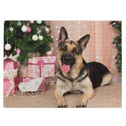 Deutscher Schäferhund, Geschenke, Neujahr, 520 Teile, Bildpuzzle, lustig, kreative Geschenke für Kinder und Erwachsene zum Geburtstag, Weihnachten