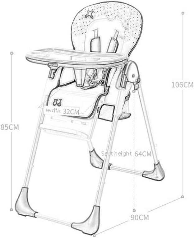 Leilims Chaise Haute, Salle à Manger for Les Enfants, Table à Manger Multifonction et chaises, Fauteuil Pliable (Color : Yellow) Yellow