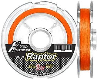Hitena Super Cast Raptor Line - 8 Strand Braided. Thin Diameter. Super Abrasion Resistance. Minimized Water Absorption. Improved Durability