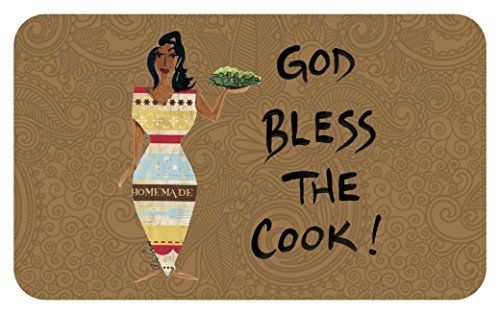 Shades of Color God Bless The Cook, Floor Mat (IFM108)