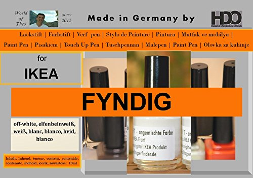 HDO Farbstift Lackstift Touch-up-Pen for Ikea Fyndig White