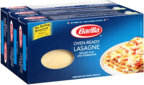 Barilla Oven Ready Lasagne Pasta | Meat Based Cream Based or Vegetable Favorite Flavor Kosher Certified - 9 Ounce (Pack of 3)
