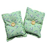 Mini almohada Duerme Bien'Verde' (Pack 2) de semillas lavanda - Colócala debajo de tu almohada o...