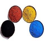 4 Pack ferric Oxide Powder, Black Iron Oxide Powder | Yellow Iron Oxide Powder | red Iron Oxide Powder | Blue Iron Oxide Powder, Each Color 7 Ounces