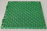 NOVINGRECONS Baldosa PP 30x30cm Verde (Paquete 24 ud.). Suelo Plastico. Suelo Apto para Exteriores o Interiores.