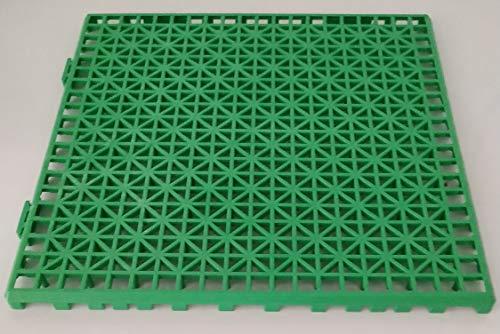 NOVINGRECONS Baldosa PP 30x30cm Verde (Paquete 24 ud.). Suelo Plastico. Suelo Apto para Exteriores o...