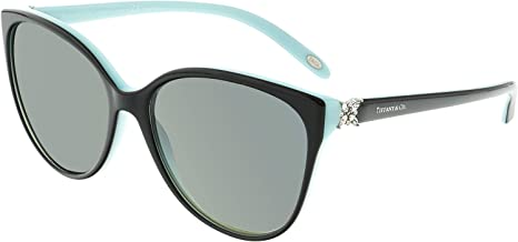 Tiffany And Co. Women's Polarized TF4089B-8055T3-58 Blue Butterfly Sunglasses