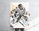 M_arc an_dre Fle_URY GOL_den Knight_s Poster, Banner, Hockey Fan, Kids Wall Decor, Man Cave Gift for Him/Her, Paint Splash Sports Art 11x17 16x24 24x36 Inch (No Frame)