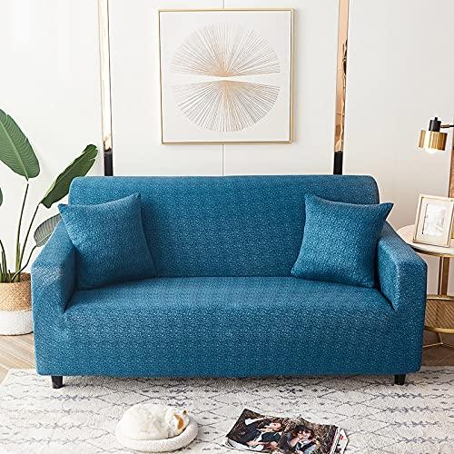 WXQY Fundas de celosía geométrica Funda de sofá elástica Funda de sofá de protección para Mascotas Funda de sofá con Esquina en Forma de L Funda de sofá con Todo Incluido A21 de 3 plazas