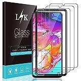 L K 3 Pièces Protection Écran pour Samsung Galaxy A70, A70 Verre Trempé [9H Dureté] [Anti-Rayures] [Kit d'installation Offert]...