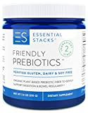 Essential Stacks Friendly Prebiotics - Organic Plant-Based Dietary Fiber to Support Gut Bacteria, Digestion & Bowel Regularity (Constipation & Diarrhea) - Unflavored.