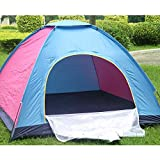 NETXE 4 Person Pop up Tent Instant Tent Lightweight Automatic Portable Tent Backpacking Tent Waterproof Sun Shelter for Outdoor Indoor Family Camping Backpacking Picnic (Colour: Multi)