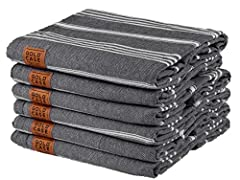 "SET OF 6 - XXL Pestemal Towels UNISEX 70x39"" (180x100 cm) / Each 1 towel weights around 10-11 oz (270-300gr) It takes less rooom in your bag or closet, dries in minutes, absorbs high amount of water etc... The tassels are hand twisted. Therefore ther..."