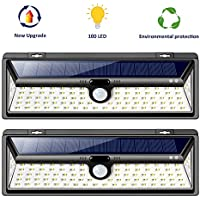 2-Pack Samuyang Motion Sensor Outdoor LED Wireless Solar Lights with 270? Wide Angle