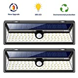 Samuyang Solar Motion Sensor Lights Outdoor- 100 LED Wireless Solar Powered Deck Lights,3 Modes 270° Wide Angle,IP65 Waterproof Wall Security Lighting Night Light for Front Door, Garage, Yard-2 Pack