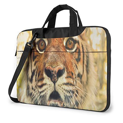 Beautiful Cool Tiger Laptop Carrying Case Shoulder Bag Briefcase W/Strap Women Men 15.6