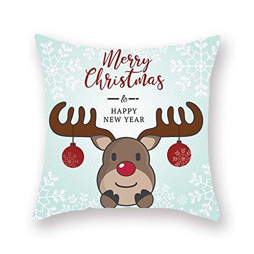 Zongha Cojines de Navidad Almohada de Navidad Hermosa Funda de Almohada de Navidad Funda de Almohada de Navidad de diseño 17