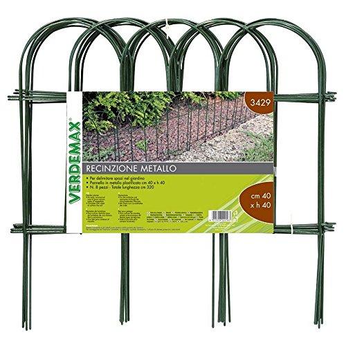 Verdemax 3429 40 x 40 cm metalen hek voor bloembedden - groen