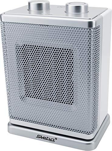 Steba Keramik Heizer KH 4 | Hohe Leistungsdichte mit bis zu 30% höherer Austrittstemperatur | Energiesparend | Zuschaltbare Oszillation | 2-stufiges Keramik-Heizelement 900/1.800 Watt | Für ca. 30 m²