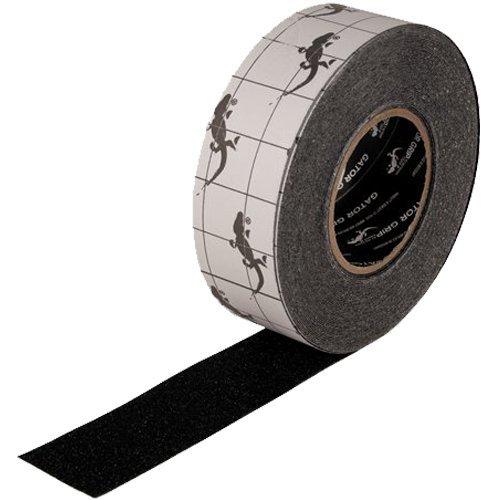 Gator Grip: SG3102B Premium Grade High Traction Abrasive Non Slip 60 Grit Indoor Outdoor Anti-Slip Adhesive Grip Safety Tape, 2 Inch x 60 ft., Black