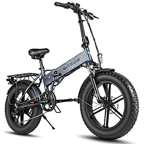 Fafrees Bicicleta Eléctrica Plegable de 750-W 48V 12.8Ah, Batería Extraíble para Adultos, Bicicleta Eléctrica para la Nieve en la Playa, Velocidad Máxima de Viaje de 45-km/h (Gris)