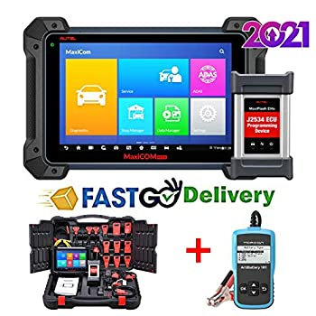 Autel Maxisys Pro MK908P 2021 Update of MS908S Pro & Same as Maxisys Elite J2534 Reprogramming Tool with No IP Restriction 30+ Service Functions Active Test Free Car Battery Tester AB101 is Given