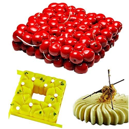 3PCS/SET Art Silicone 3D Cherry Cake Mold For Baking Mousse Chocolate Sponge Moulds Pans Cake Decorating Tools-Random color