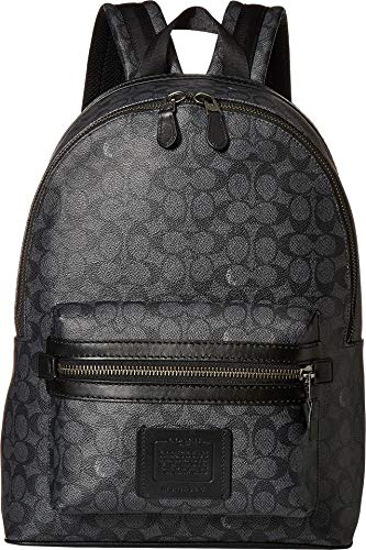 COACH Academy Backpack in Signature Coated Canvas Grey One Size
