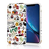 Adorable Protective Phone Case for iPhone XR, Raised Edges Scratch Resistant Light Weight Stylish Slim Soft TPU Glossy Rubber Silicone Skin Cover for iPhone XR 2018 6.1 inch - Harry Potter Doodle