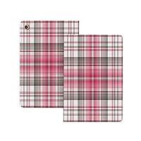 iPad Pro 11 ケース 2020 市松模様、抽象的なデザインケルトの繰り返しモチーフ鮮やかなピンクのモダンなディスプレイ装飾、トープピンクホワイト 市松模様 [Apple Pencil 2 ワイヤレス充電対応] オートスリープ/ウェイク ブックカバーデザイン 角度調節可能なスタンド アーバンプレミアムフォリオケース iPad 11インチ(2020)専用 トープピンクホワイト